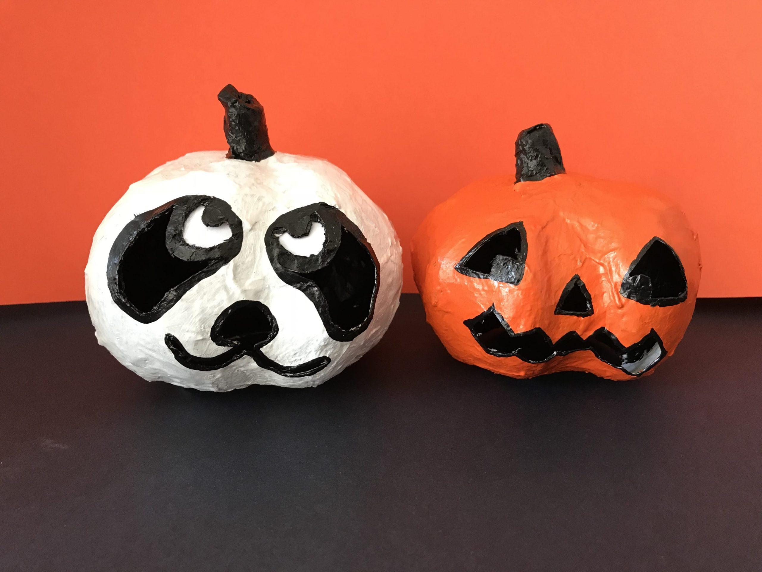 DIY Halloween Kürbis, basteln