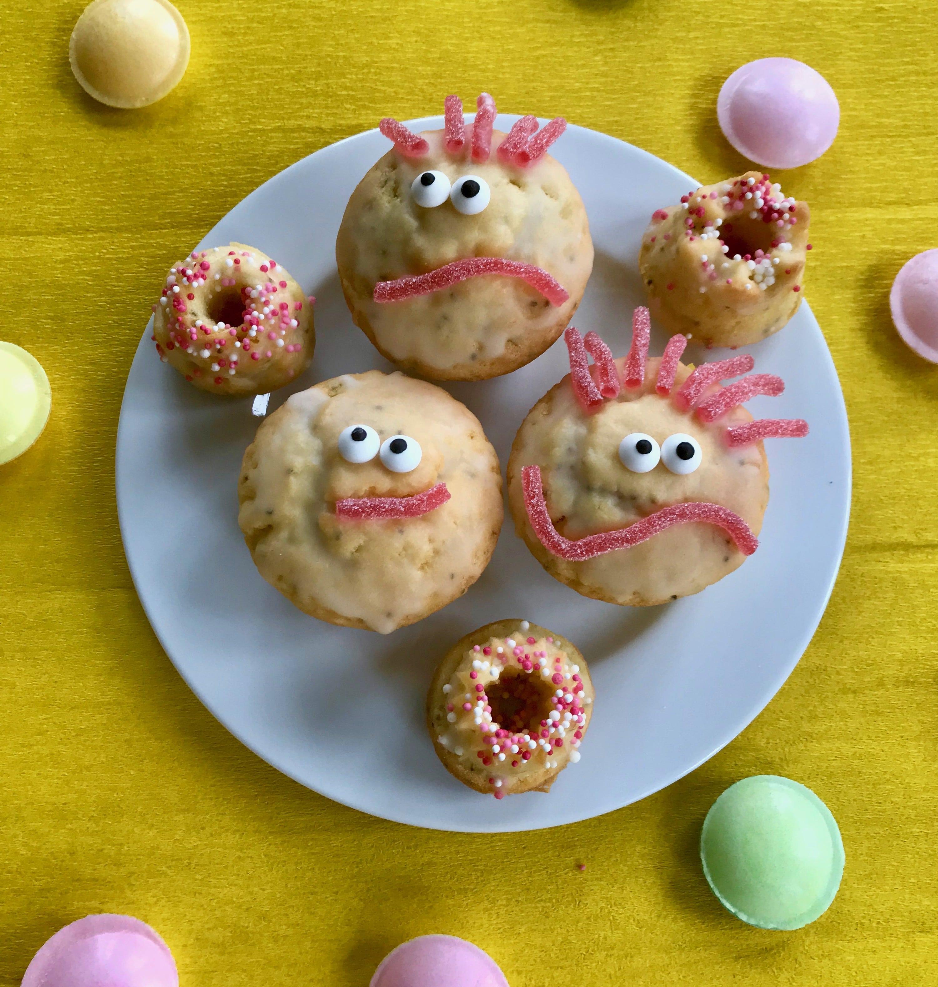 Saftige Zitronemuffins fuer den Kindergeburtstag, Rezept, Kindersnack, Kinderparty Essen