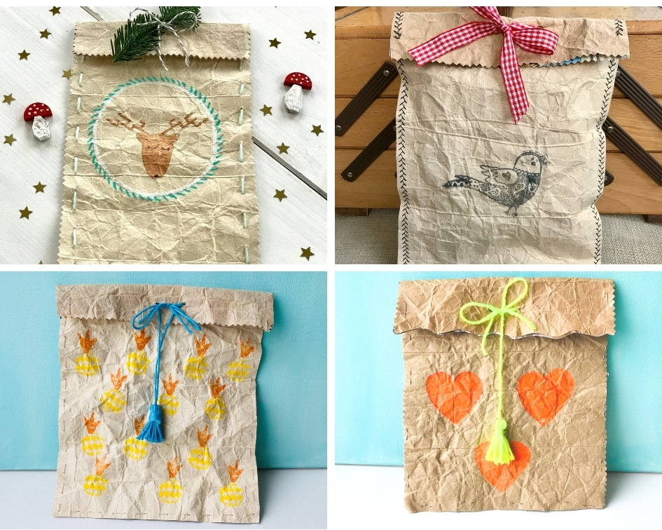 DIY Geschenktuete, Tetrapak, Geschenkverpackung, basteln, Upcycling