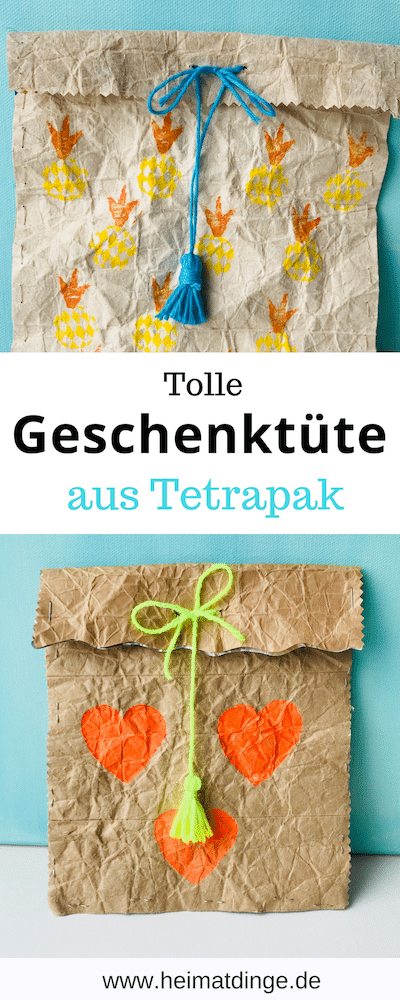 Geschenktuete, Tetrapack, basteln, Recycling
