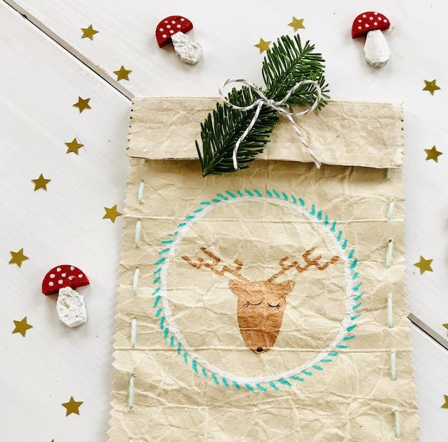 DIY Geschenktuete, Tetrapack, Weihnachten