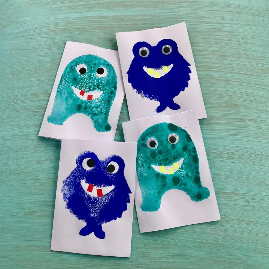 Monster Einladungskarten selber machen, Kindergeburtstag, Monsterparty
