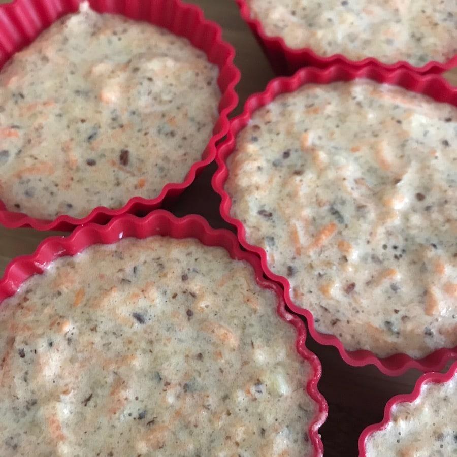 Osterhasen Muffins, Teig