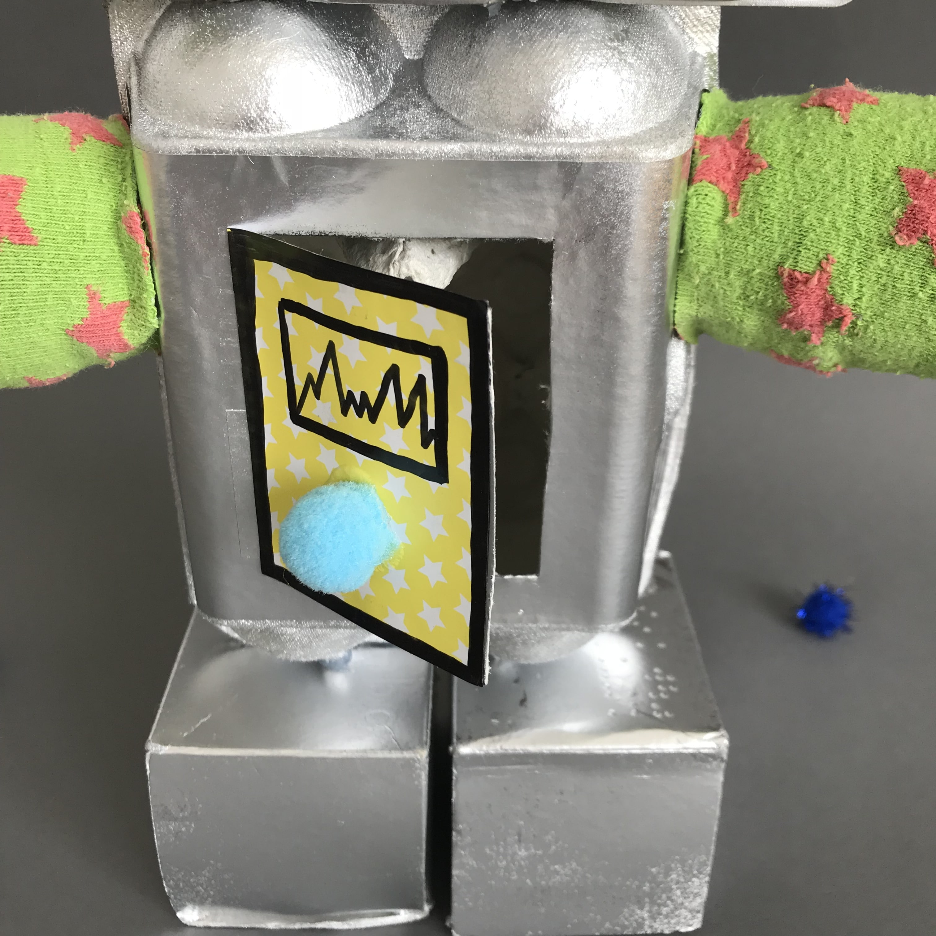 Trash Roboter basteln, Upcycling