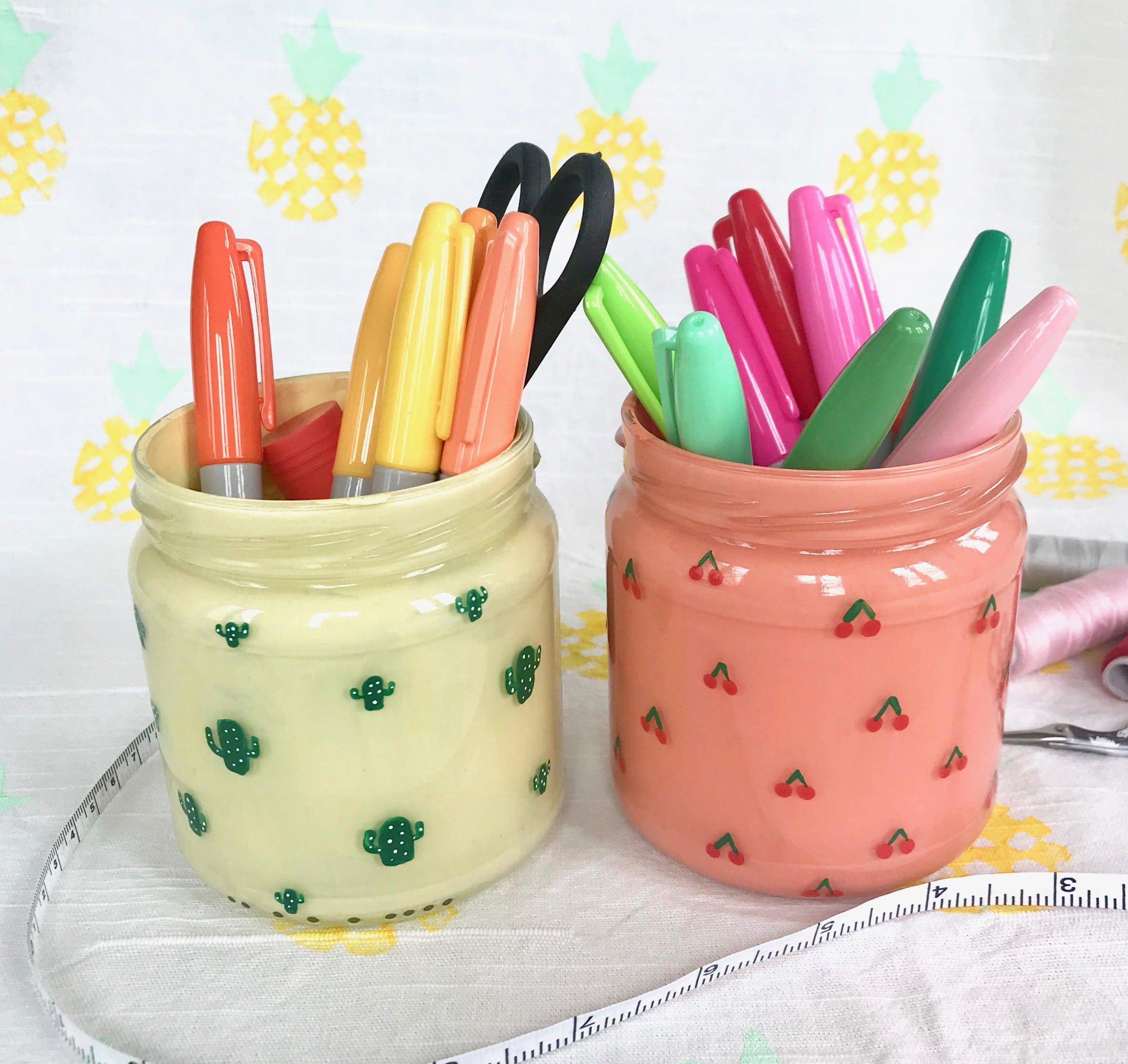 Stiftehalter selber machen, Kaktus, Kirschen, Ananas, Melone, Upcycling