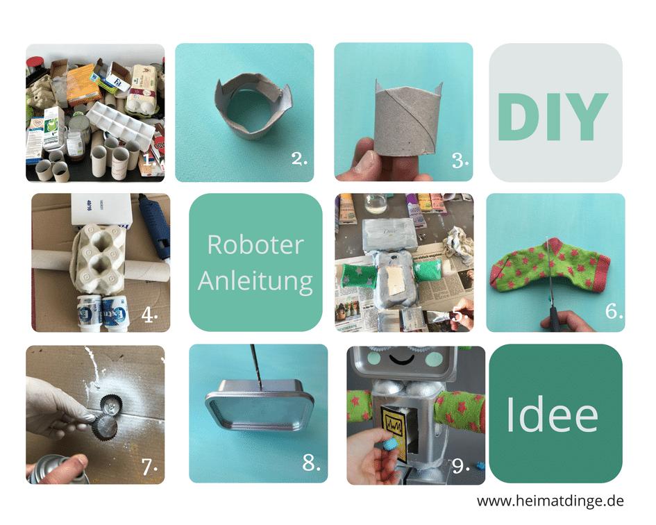 DIY Trash Roboter aus Verpackungen selber machen, Anleitung
