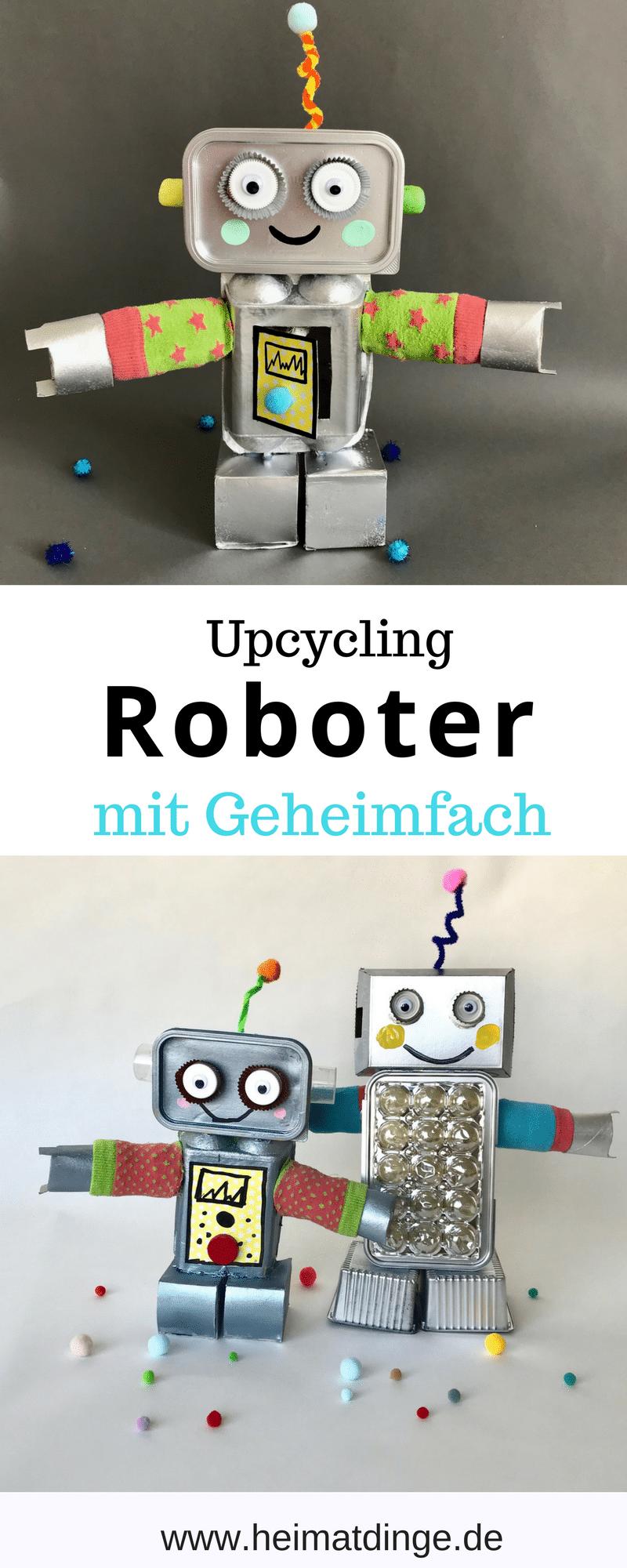 DIY Roboter aus Verpackungen basteln