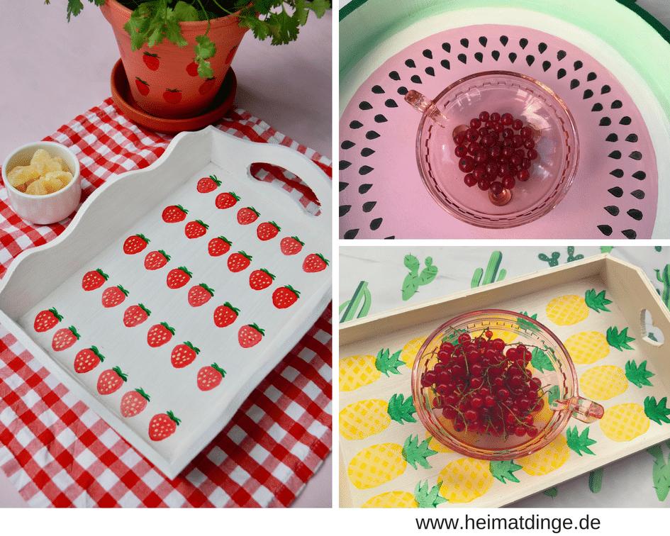 Sommer DIY Tablett selbermachen