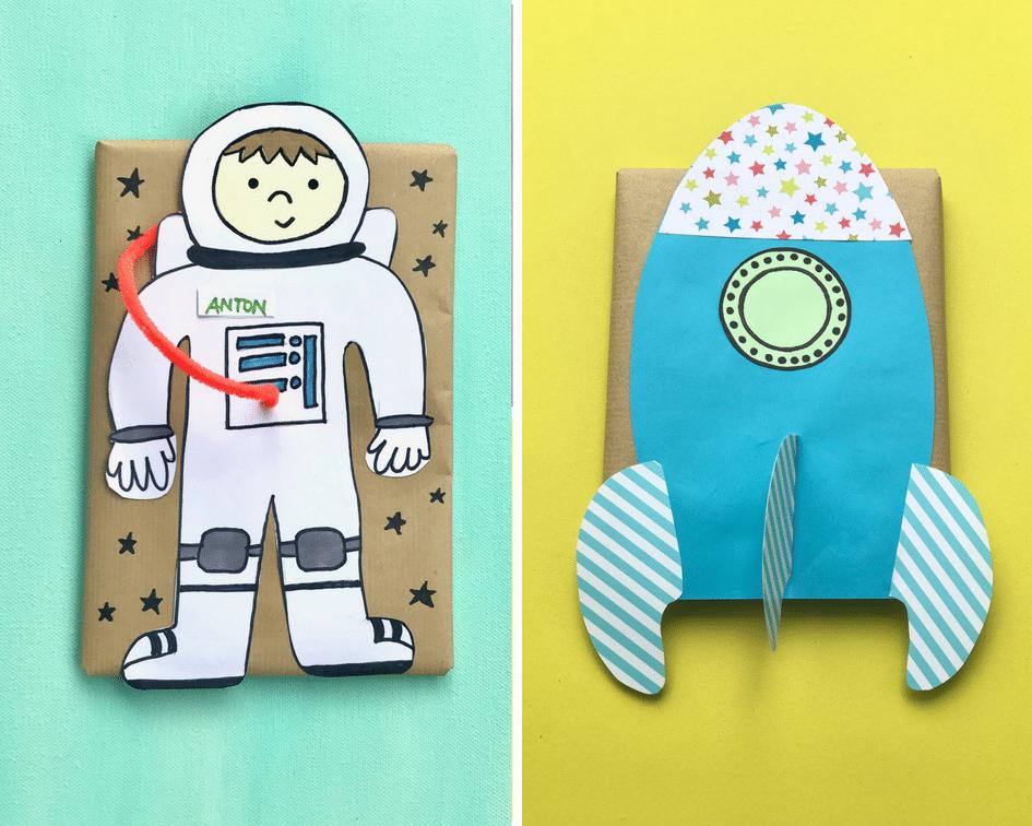 geschenkverpackung-astronaut-geburstag-kindergeburtstag-weltraumparty-upcycling-kinder