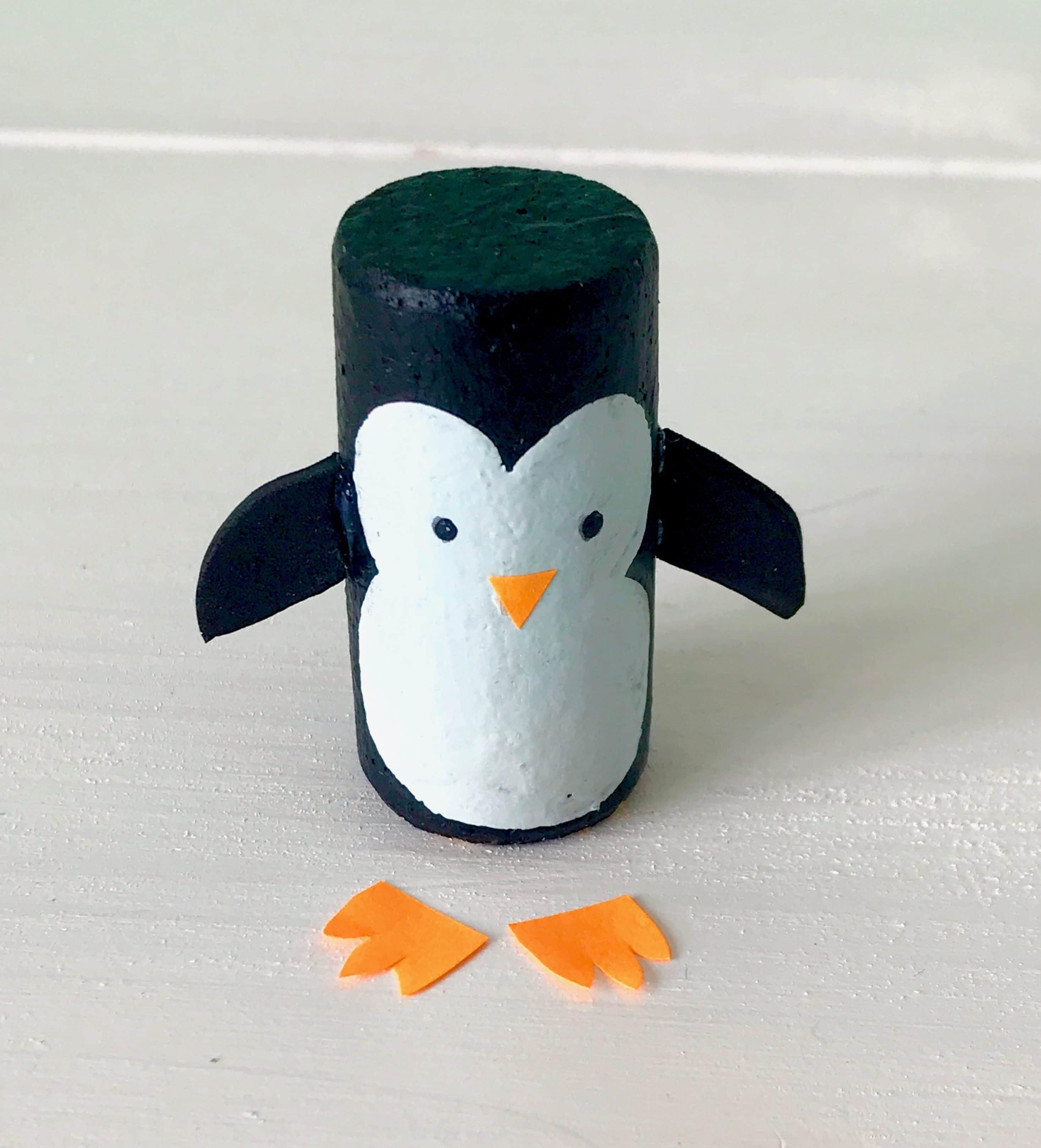 DIY Adventskranz fuer Kinder, Pinguine basteln, Upcycling