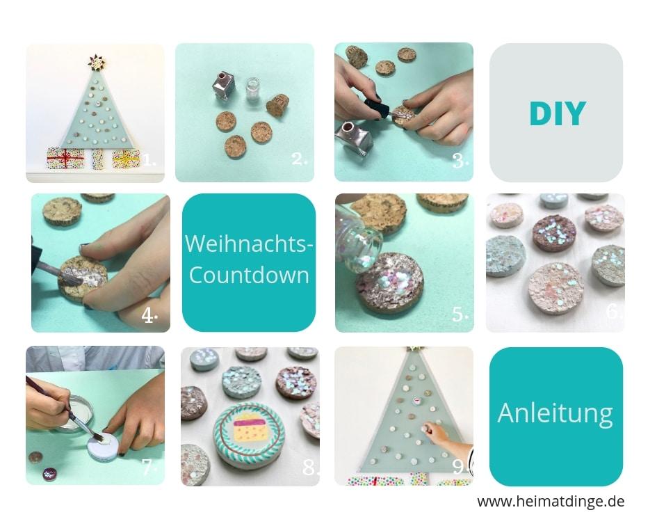 Weihnachten basteln mit Kindern zum Advent, DIY Weihnachts-Countdown, Upcycling Kinder