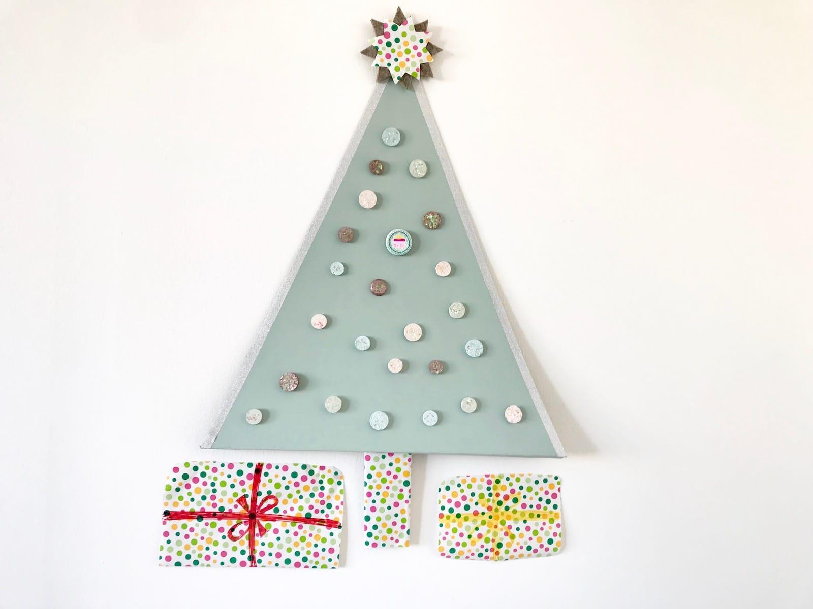 Weihnachten basteln mit Kindern zum Advent, DIY Weihnachts-Countdown, Upcycling, Weihnachtsbaum basteln