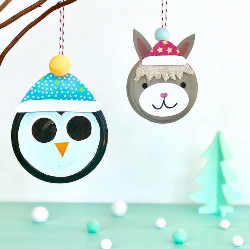 Weihnachten Basteln mit Kindern, Weihachtsschmuck, Upcycling, Cuchikind Adventskalender 2018