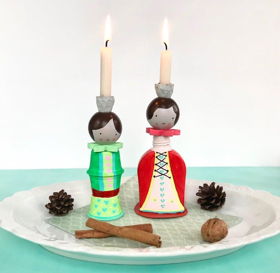 DIY Familien Adventskalender, Figuren, Upcycling, Weihnachten, Kinder