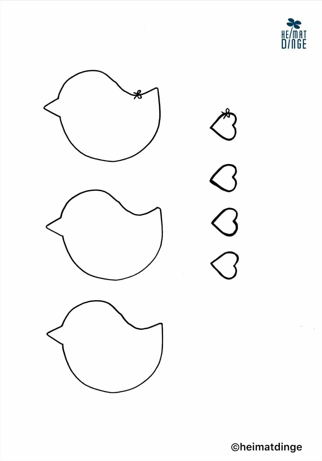 bastelvorlagen vögel zum ausdrucken  baby mobile basteln