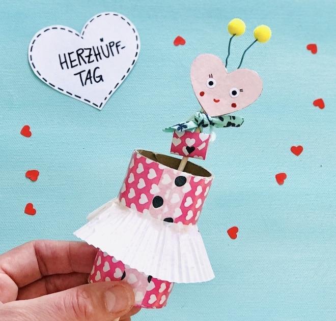 Muttertagskarte basteln, Muttertagsgeschenk mit Kindern basteln