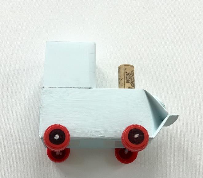 Traktor aus Milchtuete basteln, Karosserie