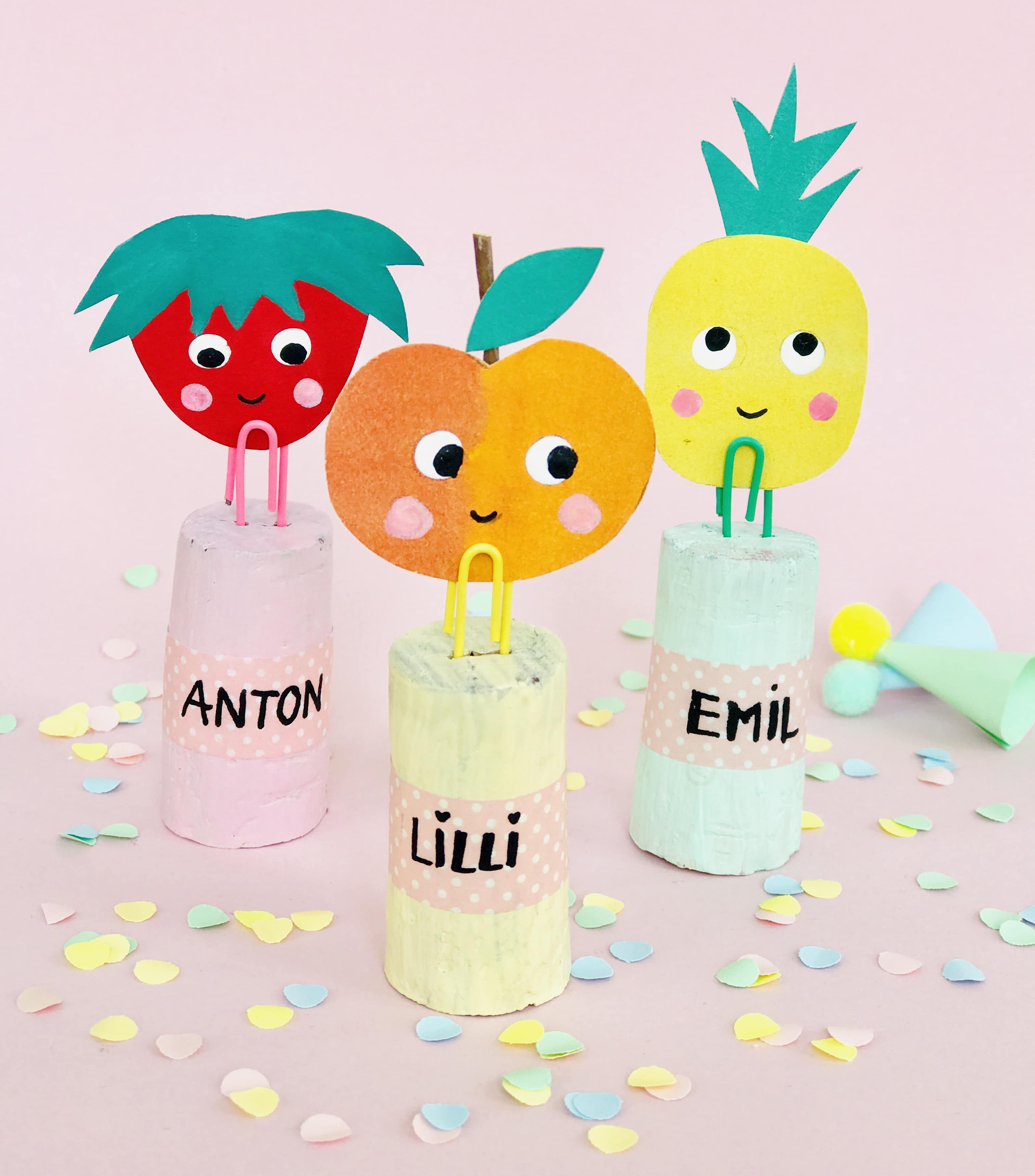 Nachhaltige Mitgebsel, Tutti Frutti Party, Partydeko, Mitgebsel, basteln, Upcycling Kinder