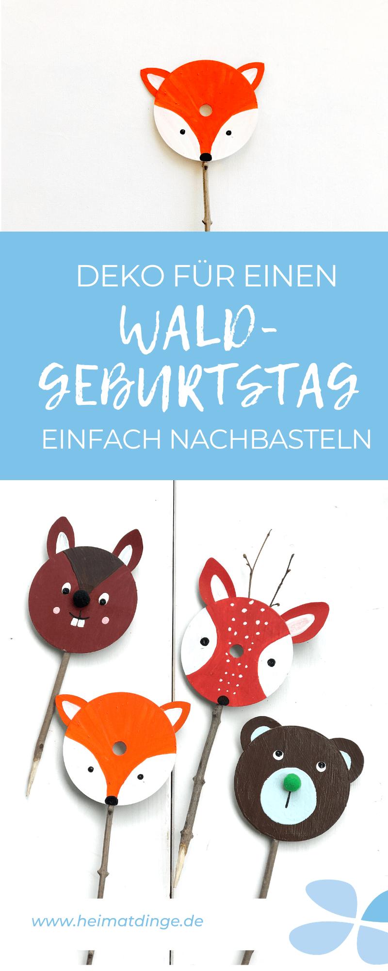 waldgeburtstag-waldtiere-basteln-upcycling-kindergeburtstag-dekoration