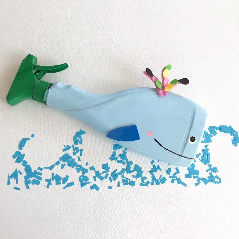 Wasserspiele fuer Kinder selber machen, Wal basteln, umweltfreundlich