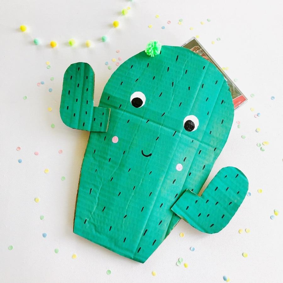 Mitgebsel Tueten basteln, Kindergeburtstag umweltfreundlich feiern, Kaktus Part
