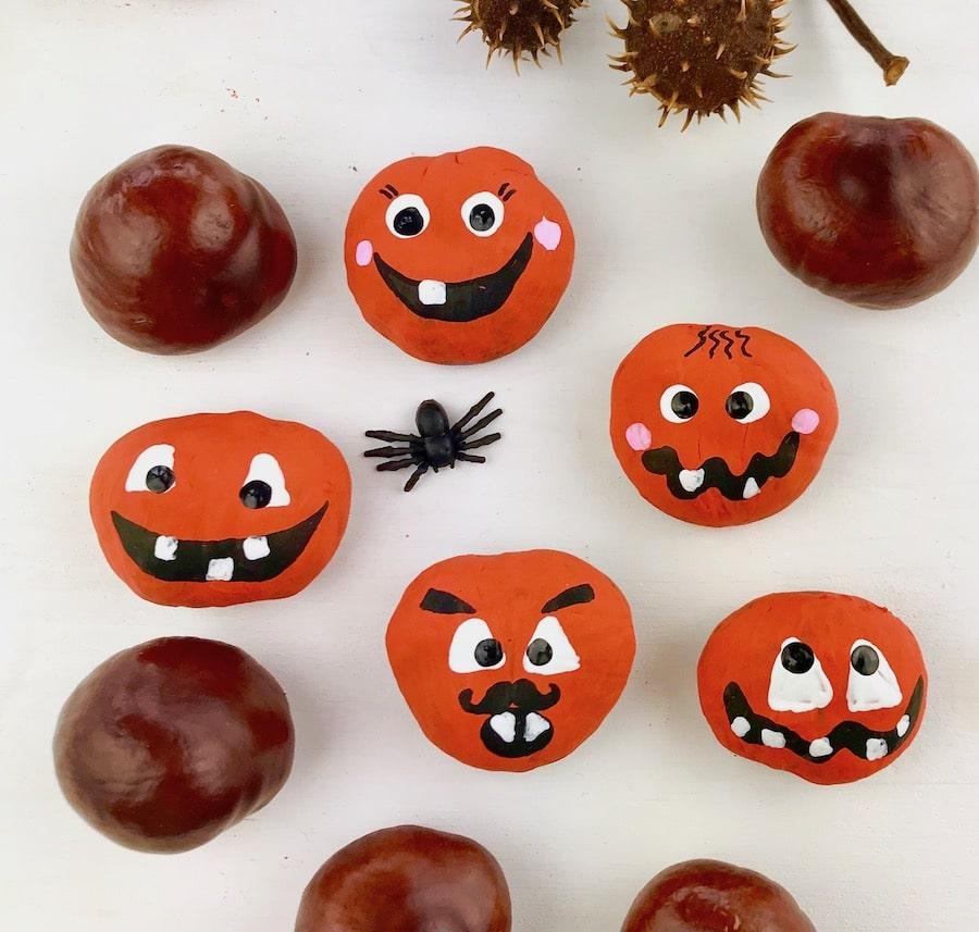 Bastelideen Halloween Kindergarten.Halloween Spiel Fur Kinder Aus Kastanien Basteln Heimatdinge
