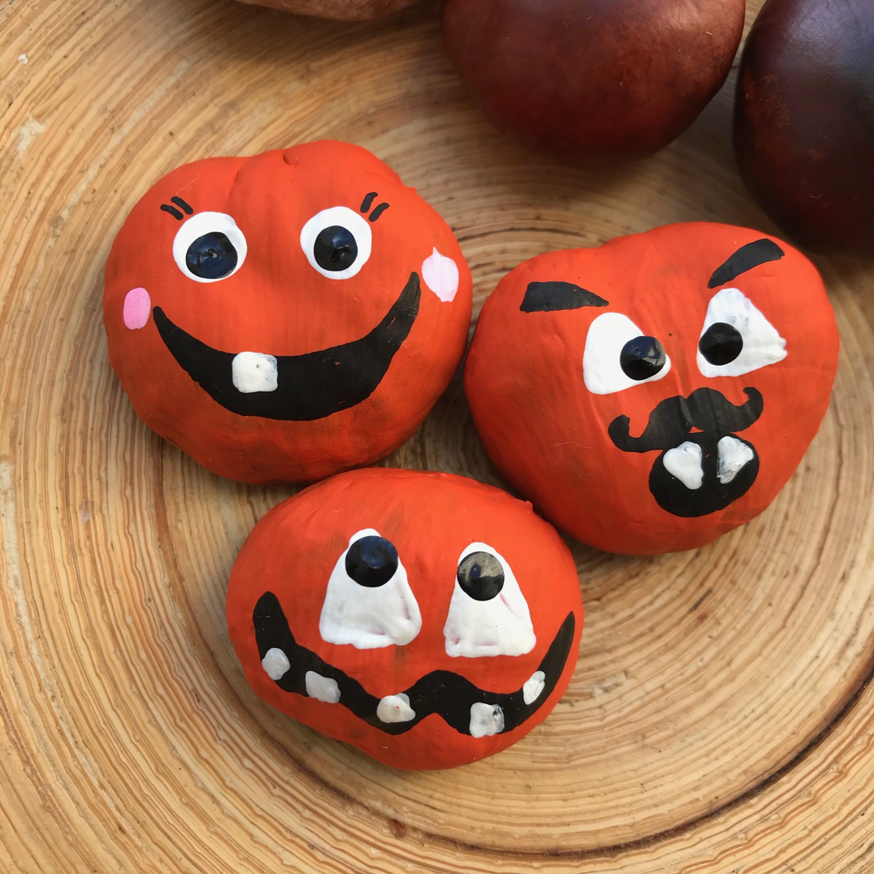Halloween Spiel fuer Kinder aus Kastanien selber machen, Halloween Kindergeburtstag