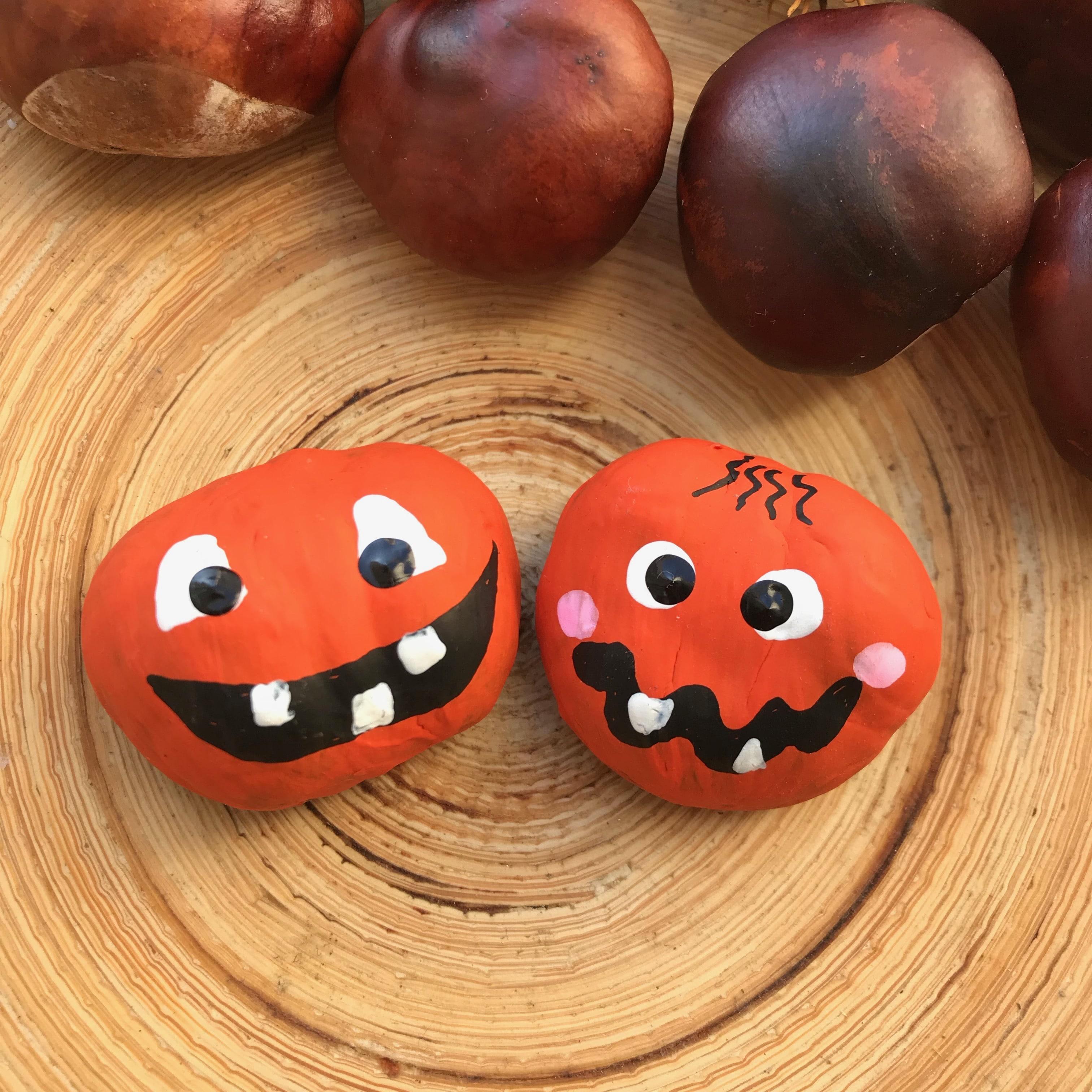 Basteln mit Kastanien, Kinderparty, Halloween Spiel Kinder