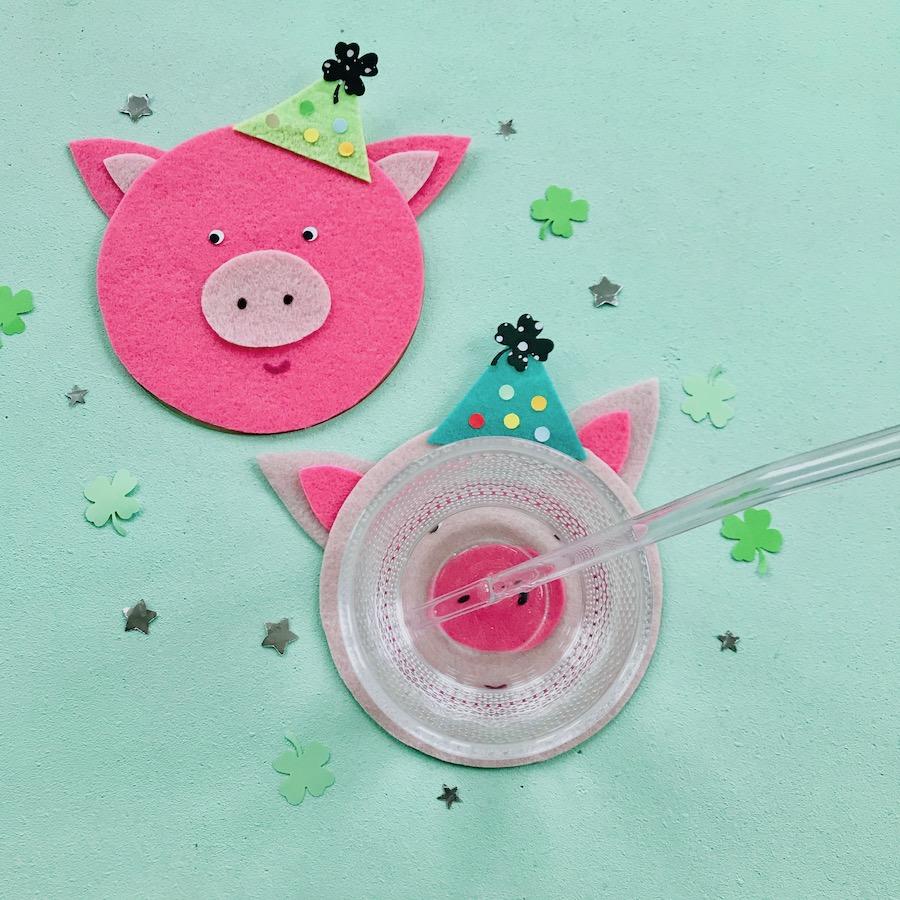 silvester deko basteln, gluecksschweine basteln upcycling idee