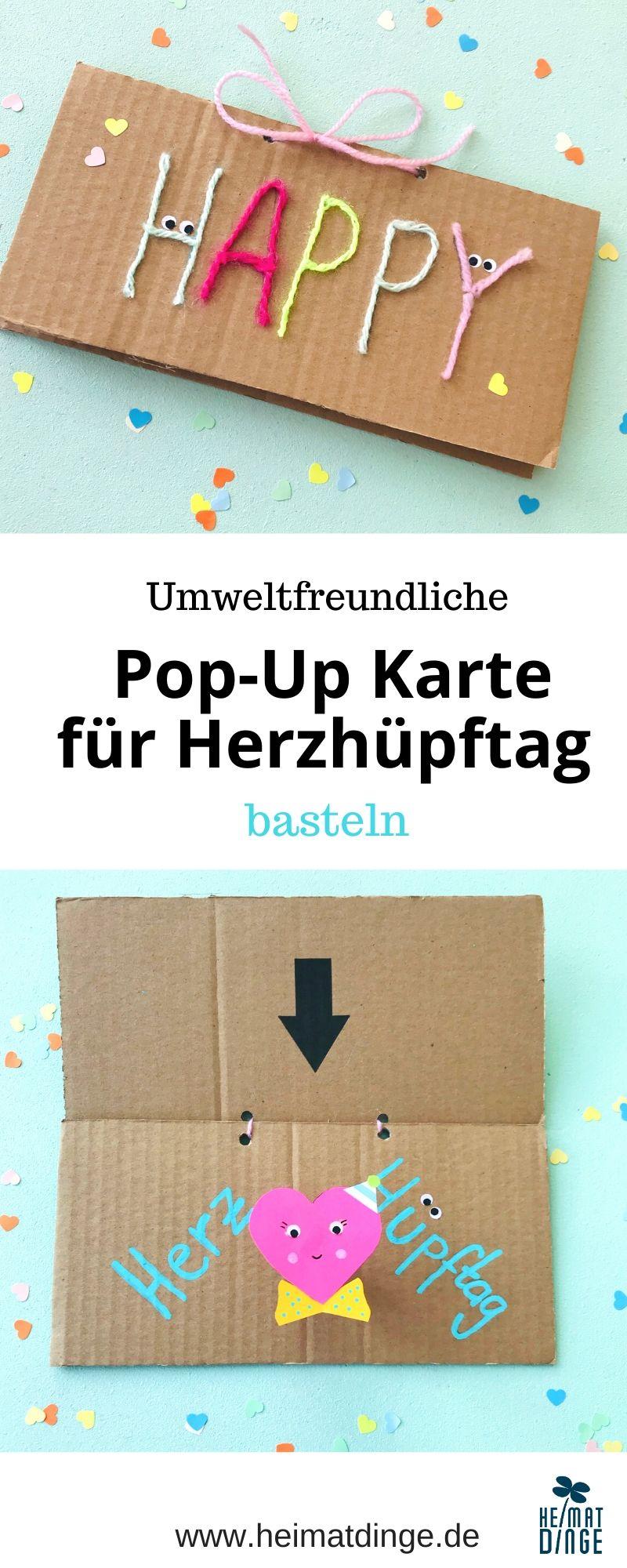 Pop up Karte basteln Herz, Grafik Pinterest
