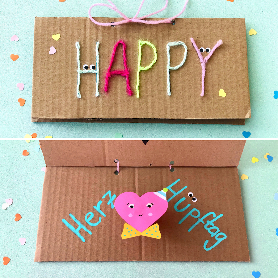 Pop up Karte basteln, muttertagskarte basteln, valentinskarte basteln kinder