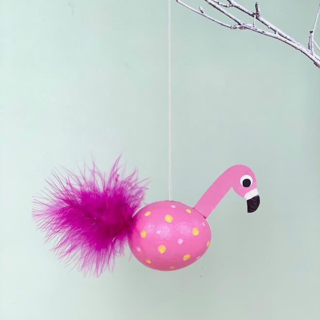 basteln-fuer-ostern-osterbastelei-osterdeko-selbermachen-flamingo