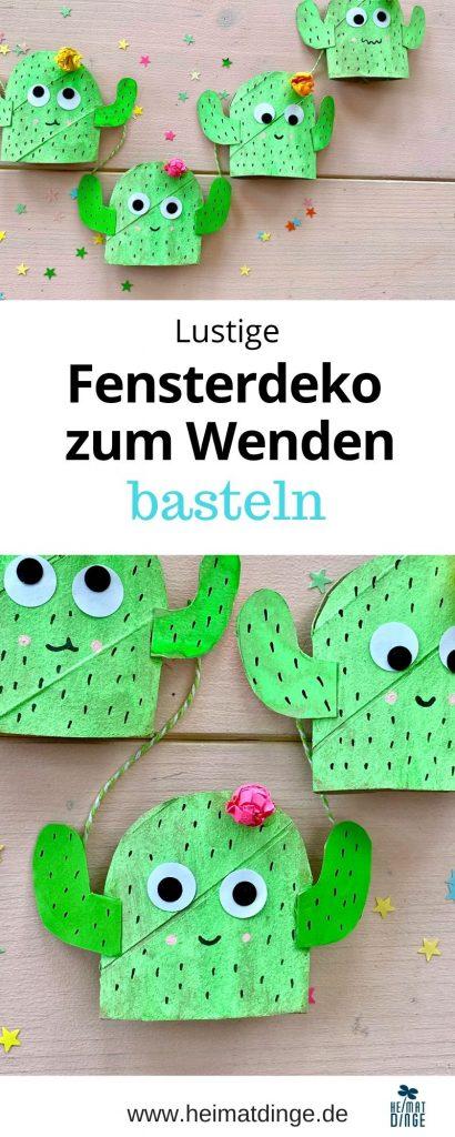 fensterdeko-basteln-kaktus-klorollen-bastelidee-sommer-kinder