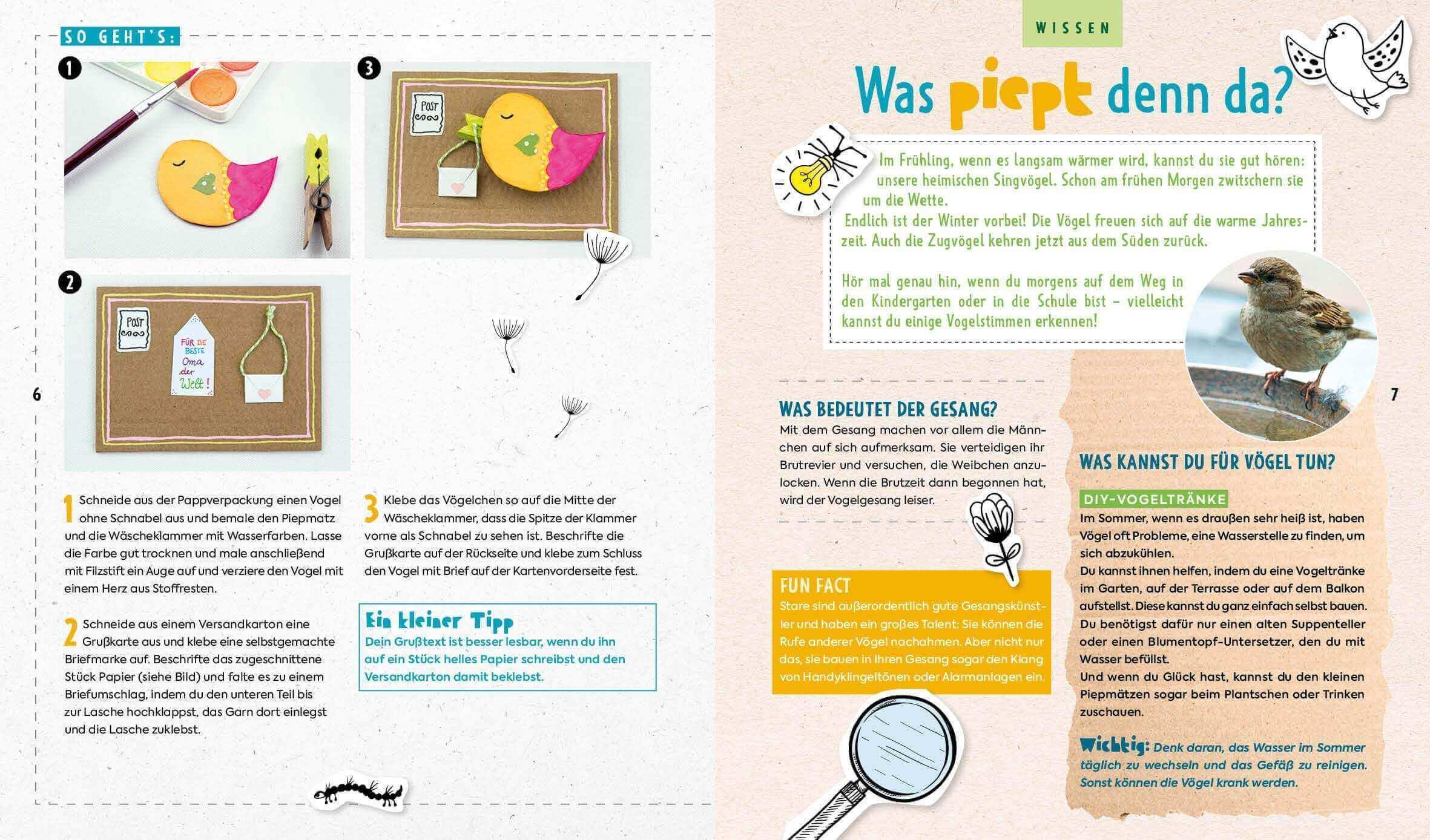 Was krabbelt, summt und quakt denn da - Das Bastelbuch mit Kreativprojekten, Spielideen und Tipps für Natur- und Umweltschutz - 3