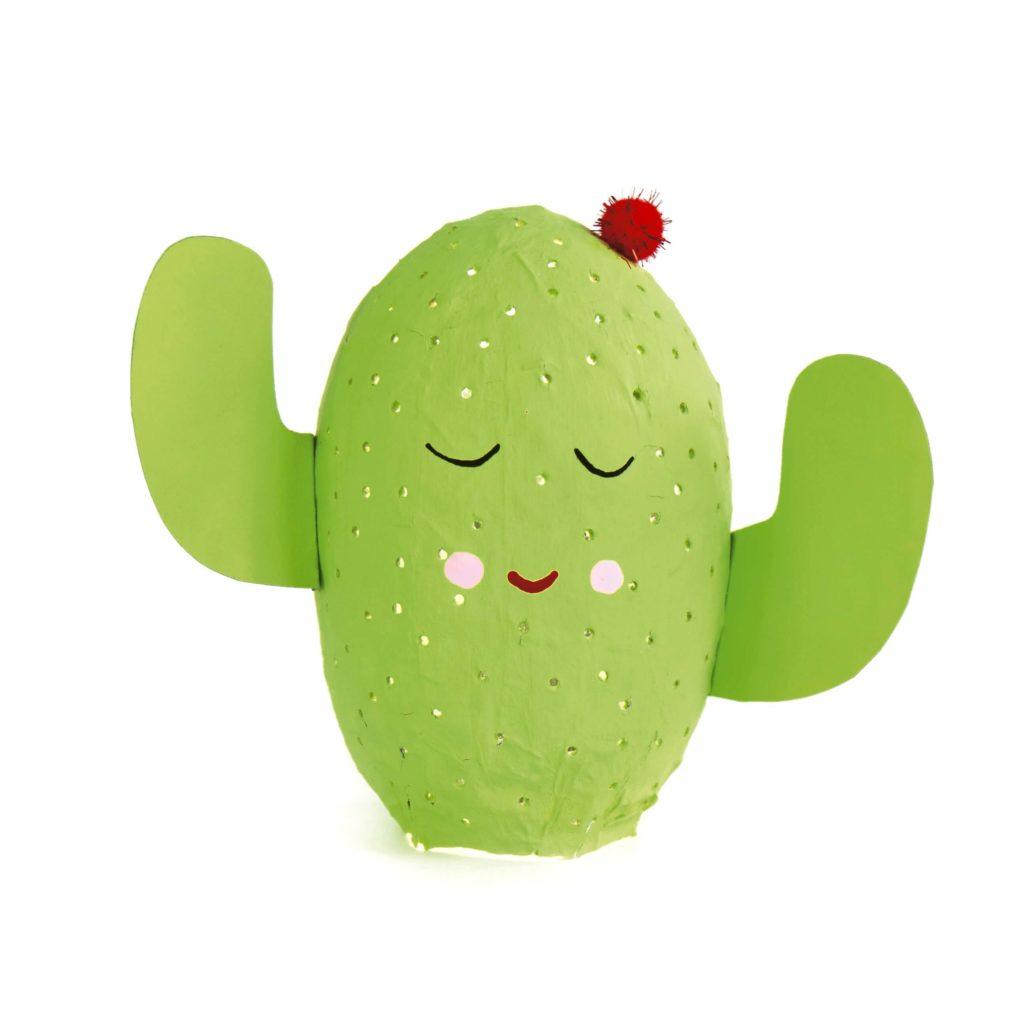 kaktus-lampe-aus-mehlkleister-basteln-recyclingidee-kinder