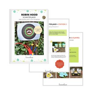 robin-hood-kindergeburtstag-schnitzeljagd-pdf-vorlagen-zum-ausdrucken-bastelset-diy